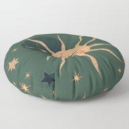 magic moon and sun Floor Pillow