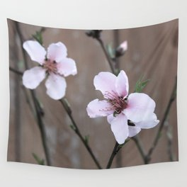 Peach Blossoms Wall Tapestry