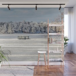 Afternoon Ice Fishing Wall Mural