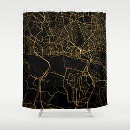 Hamburg map Shower Curtain