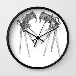 Scissorhands (BnW) Wall Clock