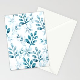 Watercolor Floral Pattern (Winter Version) Stationery Cards