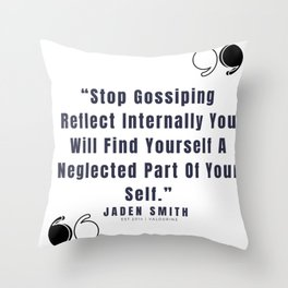 38   |  Jaden Smith Quotes | 190904 Throw Pillow