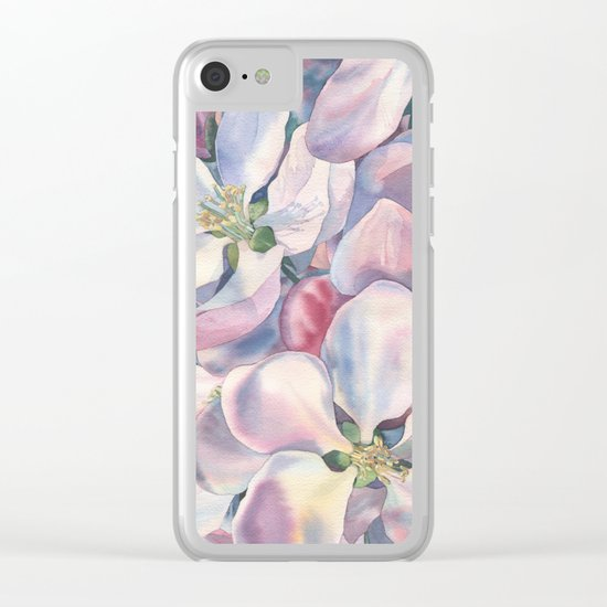 """Blossoming apple-tree"" Clear iPhone Case"