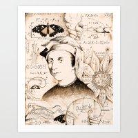 fibonacci Art Prints featuring Fibonacci by Will Santino