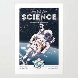 March For Science Series : Astronomy Art Print