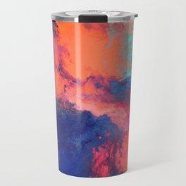 Arcylic Pouring - Bright Travel Mug
