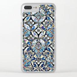 Floral Lattice Pattern III Clear iPhone Case