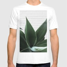 Agave on Brick White MEDIUM Mens Fitted Tee