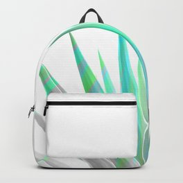 Tropical Allure - Green & Grey on White Backpack