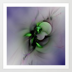 Abstract in Black and Green Art Print