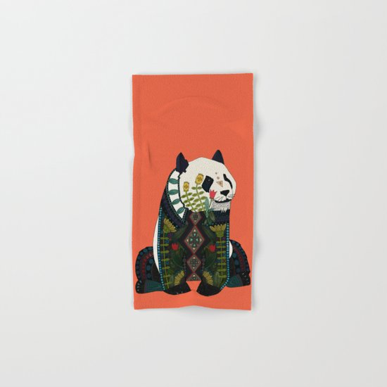 panda orange Hand & Bath Towel