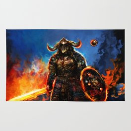 viking and his droid Rug