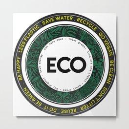Eco-Logo Metal Print