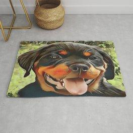 Chubby Rottweiler Puppy Rug