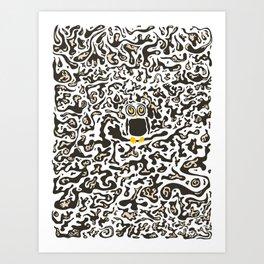 Hidden owl Art Print