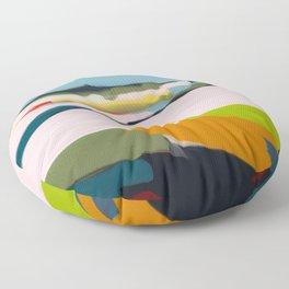 landscape summer Floor Pillow