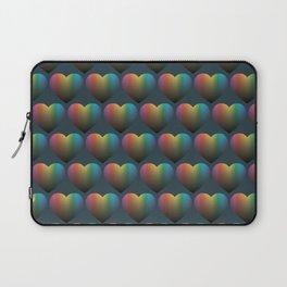 Rainbow Hearts Laptop Sleeve