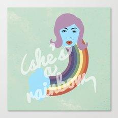 She's A Rainbow Canvas Print