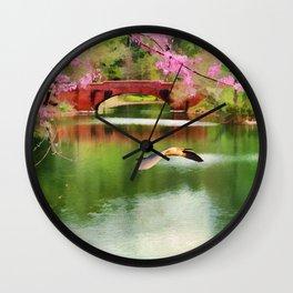 Flight of the Egret Wall Clock