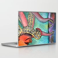 kraken Laptop & iPad Skins featuring Kraken by Indigo22