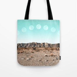 Desert Daylight Moon Ridge // Summer Lunar Landscape Teal Sky Red Rock Canyon Rock Climbing Photo Tote Bag