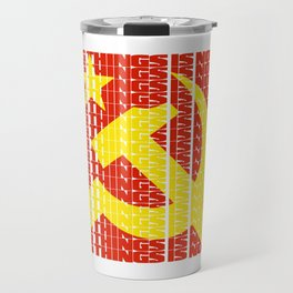 Owning Things Is Not A Job - Socialist Typography Travel Mug