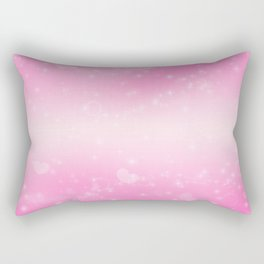 Magic deep pink heart patterned Rectangular Pillow
