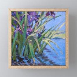 Sun Day—Iris Framed Mini Art Print