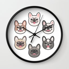 Frenchie Color Spectrum Wall Clock