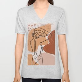 Maiden in abstraction Unisex V-Neck