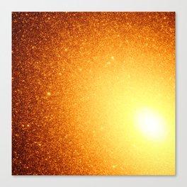 Copper Stars Ombre Canvas Print