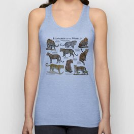 Leopards of the world Unisex Tank Top