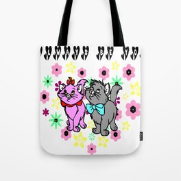 The happy cute couple cats Tote Bag
