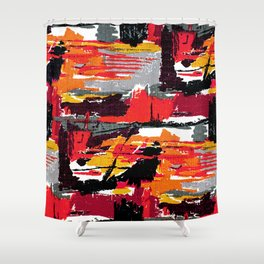 Mid-century Fabric Pattern 106 Shower Curtain