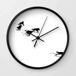 snowblinded // (wolf pack) Wall Clock