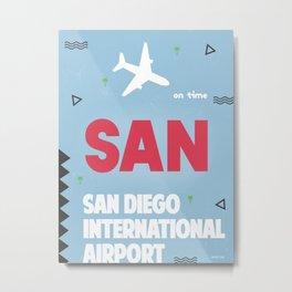 San Diego California Metal Print