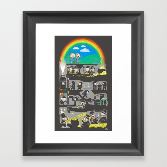 End of the Rainbow Framed Art Print