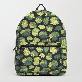 Green Succulents Pattern Backpack