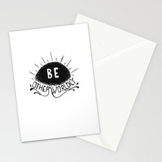 Be Otherworldly (blk) Stationery Cards