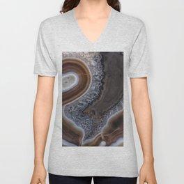 "Agate crystal texture #2 ""more detail"" Unisex V-Neck"
