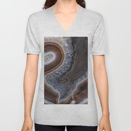 "Agate crystal texture #2 ""more detail"" Unisex V-Neck"