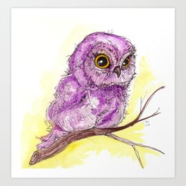 Purple Owlette Art Print