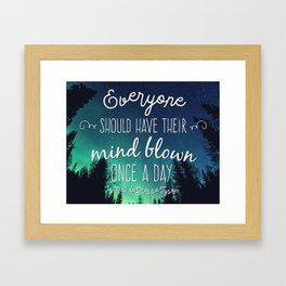 Inspirational Poster - Neil deGrasse Tyson Quote Framed Art Print