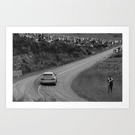 Knockalla 2019 Uphill bw Art Print