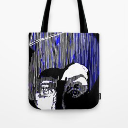 Blue Portrait Tote Bag