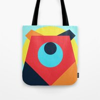 pagan Tote Bags featuring PAGAN ANIMALS - BEAR by Atelier FP7