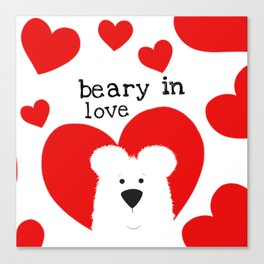 Beary in Love Canvas Print