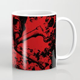 Skull and Crossbones Splatter Pattern Coffee Mug