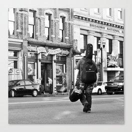 Crossing Broadway Canvas Print